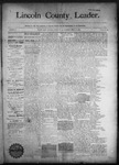 Lincoln County Leader, 09-12-1891 by Lincoln County Publishing Company