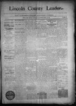 Lincoln County Leader, 09-26-1891 by Lincoln County Publishing Company