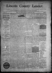 Lincoln County Leader, 10-03-1891 by Lincoln County Publishing Company