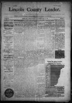 Lincoln County Leader, 10-10-1891 by Lincoln County Publishing Company