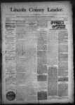 Lincoln County Leader, 10-31-1891 by Lincoln County Publishing Company