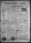 Lincoln County Leader, 11-14-1891 by Lincoln County Publishing Company