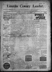 Lincoln County Leader, 11-21-1891 by Lincoln County Publishing Company