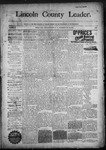 Lincoln County Leader, 11-28-1891 by Lincoln County Publishing Company