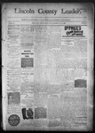 Lincoln County Leader, 01-16-1892 by Lincoln County Publishing Company