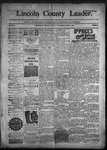 Lincoln County Leader, 04-02-1892 by Lincoln County Publishing Company