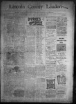 Lincoln County Leader, 05-14-1892 by Lincoln County Publishing Company