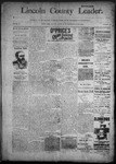 Lincoln County Leader, 07-23-1892 by Lincoln County Publishing Company