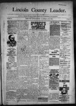 Lincoln County Leader, 10-22-1892 by Lincoln County Publishing Company