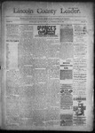 Lincoln County Leader, 11-19-1892 by Lincoln County Publishing Company