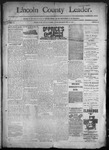 Lincoln County Leader, 12-10-1892 by Lincoln County Publishing Company
