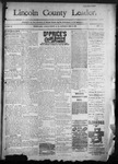 Lincoln County Leader, 12-31-1892 by Lincoln County Publishing Company