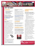 Anderson School of Management weekly bulletin, October 29, 2007.