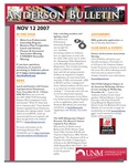 Anderson School of Management weekly bulletin, November 12, 2007. by Anderson School of Management