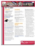 Anderson School of Management weekly bulletin, October 15, 2007. by Anderson School of Management
