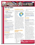 Anderson School of Management weekly bulletin, October 22, 2007. by Anderson School of Management
