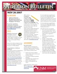 Anderson School of Management weekly bulletin, November 26, 2007. by Anderson School of Management