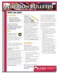 Anderson School of Management weekly bulletin, November 26, 2007.