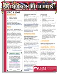 Anderson School of Management weekly bulletin, December 3, 2007. by Anderson School of Management