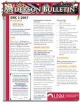 Anderson School of Management weekly bulletin, December 3, 2007.