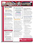 Anderson School of Management weekly bulletin, January 22, 2008. by Anderson School of Management