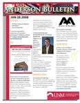 Anderson School of Management weekly bulletin, January 28, 2008. by Anderson School of Management