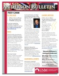 Anderson School of Management weekly bulletin, February 4, 2008. by Anderson School of Management
