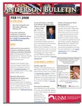 Anderson School of Management weekly bulletin, February 11, 2008. by Anderson School of Management
