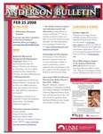 Anderson School of Management weekly bulletin, February 25, 2008. by Anderson School of Management