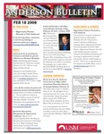 Anderson School of Management weekly bulletin, February 18, 2008. by Anderson School of Management