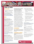 Anderson School of Management weekly bulletin, March 10, 2008. by Anderson School of Management