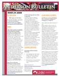 Anderson School of Management weekly bulletin, March 24, 2008. by Anderson School of Management