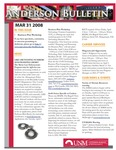 Anderson School of Management weekly bulletin, March 31, 2008. by Anderson School of Management