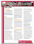 Anderson School of Management weekly bulletin, April 7, 2008. by Anderson School of Management