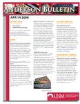 Anderson School of Management weekly bulletin, April 14, 2008. by Anderson School of Management