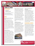 Anderson School of Management weekly bulletin, April 21, 2008. by Anderson School of Management