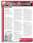 Anderson School of Management weekly bulletin, April 28, 2008. by Anderson School of Management