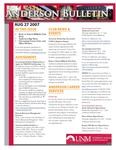 Anderson School of Management weekly bulletin, August 27, 2007. by Anderson School of Management