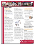 Anderson School of Management weekly bulletin, May 5, 2008. by Anderson School of Management