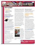 Anderson School of Management weekly bulletin, October 8, 2007.