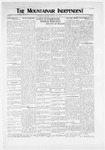 Mountainair Independent, 05-27-1920 by Mountainair Printing Company