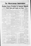 Mountainair Independent, 11-04-1920 by Mountainair Printing Company