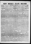 New Mexico State Record, 06-29-1917
