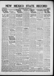 New Mexico State Record, 01-18-1918