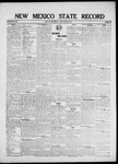 New Mexico State Record, 08-29-1919