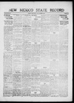 New Mexico State Record, 10-08-1920 by State Publishing Company
