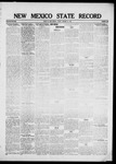 New Mexico State Record, 01-21-1921 by State Publishing Company