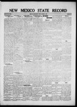 New Mexico State Record, 10-07-1921 by State Publishing Company