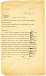 Japanese War Crime Tribunal Letter