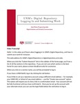 UNM's Digital Repository:  Logging In and Submitting Work